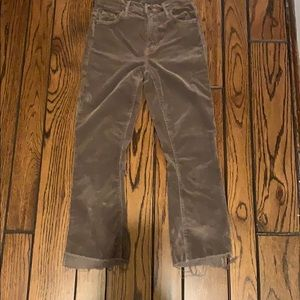 Mother Denim Brown Cords